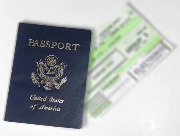 passport boarding ticket