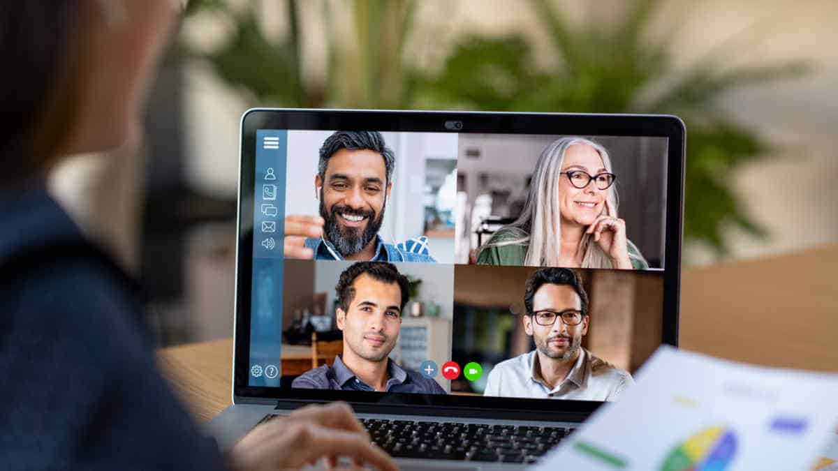 group of people doing video call