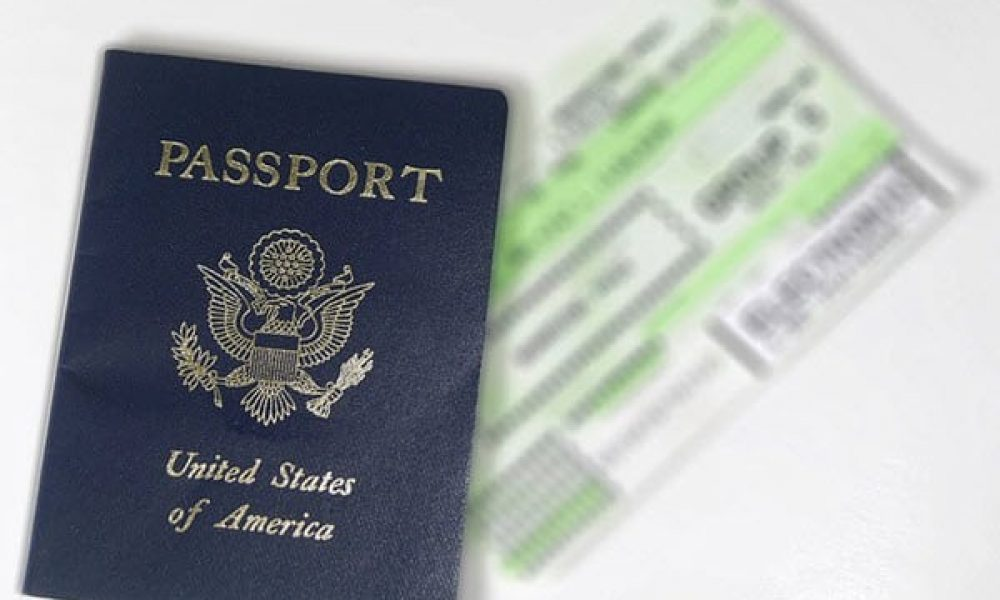 passport boarding ticket